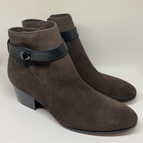 Coach Patricia Brown Suede Boots - Size 9